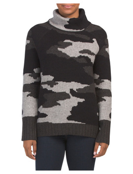 Turtle Neck Jacquard Pullover Sweater by Tj Maxx