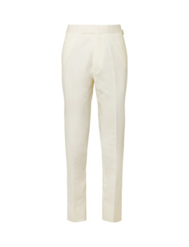 Cotton, Linen And Silk Blend Suit Trousers by Kingsman