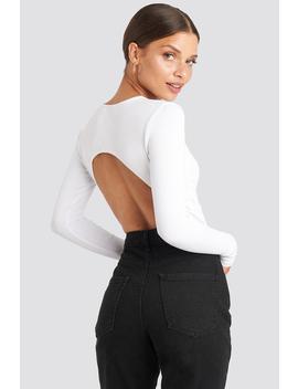 Open Back Bodysuit White by Na Kd Party