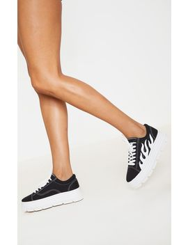 Black Flame Sneakers by Prettylittlething