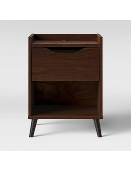 Modern Gallery Nightstand Walnut Brown   Room Essentials™ by Shop This Collection