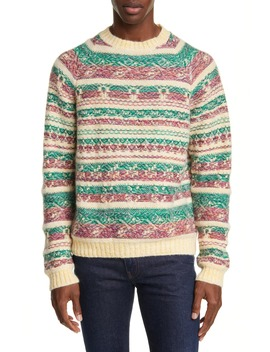 Karlos Reverse Jacquard Crewneck Sweater by Acne Studios