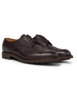Borrowdale Textured Leather Wing Tip Brogues by Edward Green