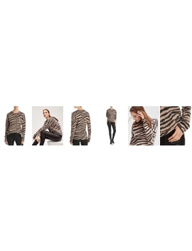 Zebra Stripe Brushed Cashmere Sweater   100% Exclusive by C By Bloomingdale's