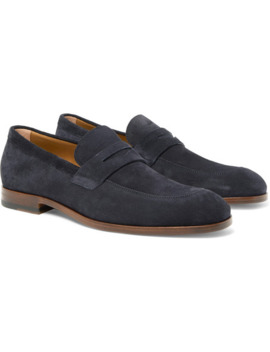 Brighton Suede Penny Loafers by Hugo Boss
