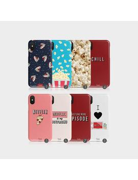 Tirita Hard Phone Case Netflix Chill Popcorn Cinema Films Pizza I Phone 5 5s Se 6 6s 7&8 Plus X Xs Max Xr Samsung Motorola Lg Huawei Htc by Etsy