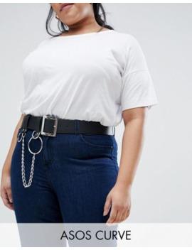 Asos Design Curve Chain &Amp; Ring Detail Waist &Amp; Hip Belt by Asos Design