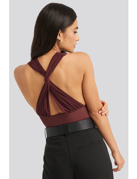 Mesh Cross Back Body Red by Na Kd Party