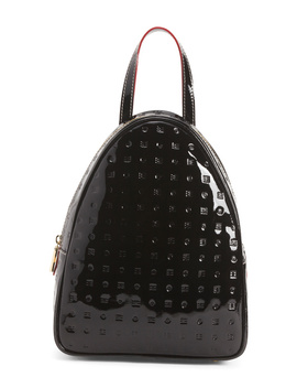 Made In Italy Patent Leather Dome Shaped Backpack by Tj Maxx