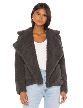 Soft Skills Teddy Jacket In Dark Charcoal by Bb Dakota