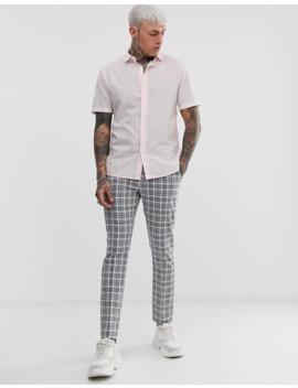 Asos Design Regular Fit Smart Linen Shirt In Pink by Asos Design
