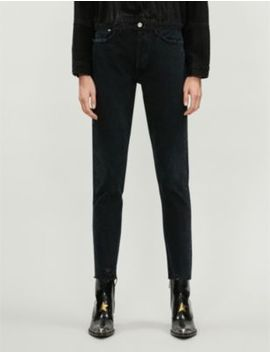 Jamie Raw Hem Straight High Rise Jeans by Agolde