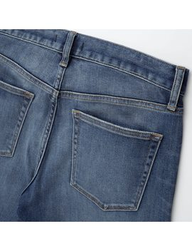 Men Slim Fit Distressed Jeans (L34) by Uniqlo