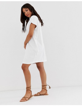 Asos Design Petite Grown On Sleeve T Shirt Dress by Asos Design