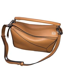 Puzzle Leather Handbag by Loewe