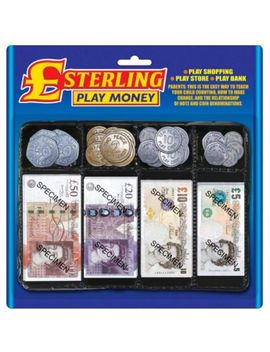 Pretend Sterling Pounds Play Money Set Role Play Educational Fake Notes Coins by Ebay Seller