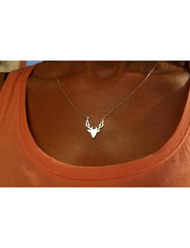 Deer Necklace, Silver Deer Necklace, Dainty Necklace, Necklaces For Women, Deer Jewelry, Silver Deer Necklace, Deer Charm Necklace by Etsy