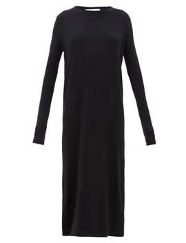 Crew Neck Ribbed Cashmere Dress by Raey