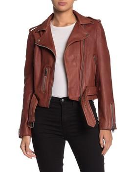Kelsey Leather Moto Jacket by Walter Baker