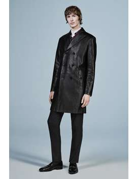 Leather Trench Coat by Zara