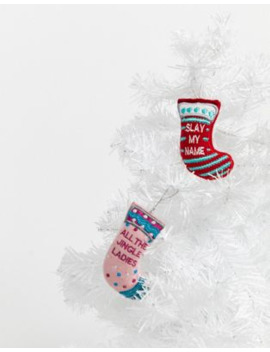 Typo Stocking Decorations   Set Of 2 by Typo