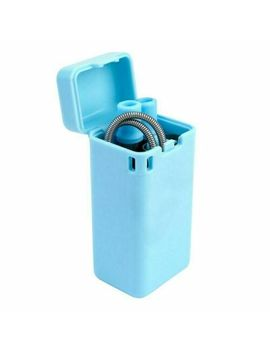 Reusable Collapsible Metal Drinking Straw Portable Keychain With Cleaning Brush by Ebay Seller