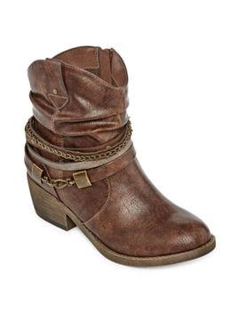 Pop Womens Odile Cowboy Boots Block Heel by Pop