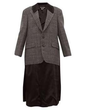 Layered Wool And Satin Jacket by Junya Watanabe