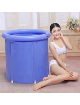 Uk Portable Folding Bathtub Adult Spa Bathing Tub Bucket Inflatable Home 70cm by Ebay Seller