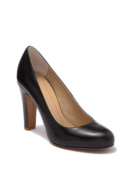Bette Leather Round Toe Pump by Halston Heritage