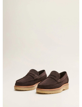 Volume Sole Suede Moccasins by Mango