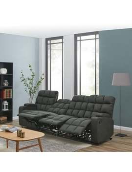 Copper Grove Bielefeld Grey Microfiber 4 Seat Recliner Sofa   4 Set by Copper Grove