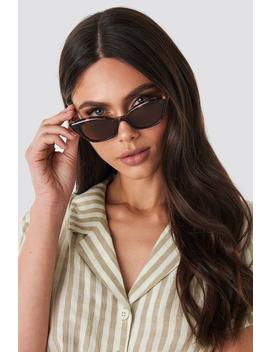 Slim Pointy Cat Eye Sunglasses Braun by Na Kd Accessories