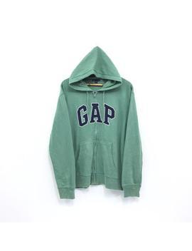 Rare!!! Vintage Gap Hoodie Zipper Up Biglogo Emboidery Streetwear Pullover Jumper Sweater Sportwear Urban Style Green Hooded by Etsy
