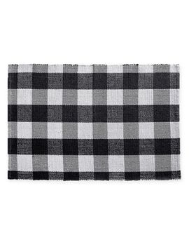 """Farmhouse Living Buffalo Check 20"""" X 30"""" Woven Kitchen Mat by Bed Bath And Beyond"""