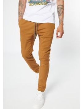 Camel Twill Joggers by Rue21