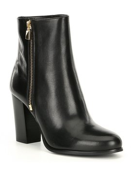 Frenchie Leather Block Heel Booties by Michael Michael Kors