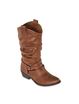Arizona Womens Moore Cowboy Boots Block Heel by Arizona