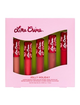 Lime Crime Jolly Holiday 5 Piece Set by Lime Crime