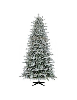 9ft Pre Lit  Artificial Christmas Tree Full Flocked Balsam Fir Clear Lights   Wondershop™ by Wondershop