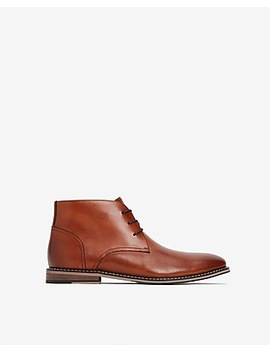 Cognac Leather Chukka Boot by Express