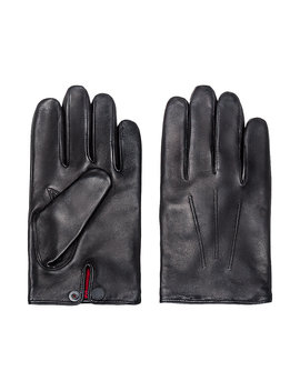 Nappa Leather Gloves With Branded Press Stud Nappa Leather Gloves With Branded Press Stud by Boss