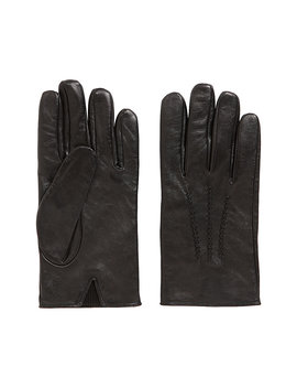 Lambskin Nappa Leather Gloves With Elastic Insert Lambskin Nappa Leather Gloves With Elastic Insert by Boss