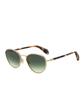 Metal & Acetate Round Sunglasses by Rag & Bone