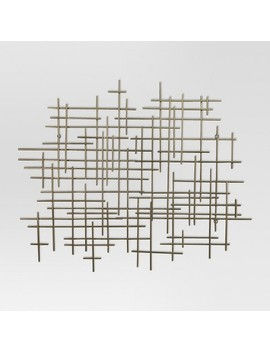 "36""X30"" Mid Century Metal Wall Décor Gold   Project 62™ by Shop Collections"