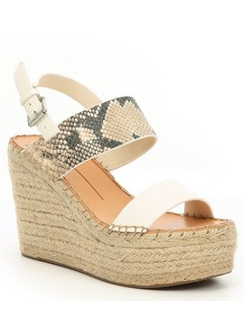 Spiro Snake Print Leather Wedge Sandals by Dolce Vita