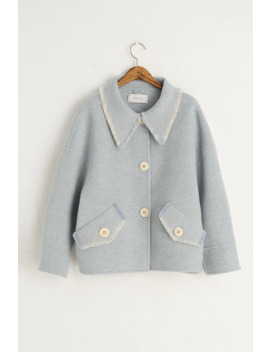 Raw Edge Mini Jacket, Blue by Olive