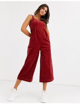 Volcom Oh My Cord Jumpsuit In Rust by Asos