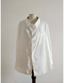 Comme Des Garçons Fw 1992 White Oversized Cotton Shirt/Skirt by Etsy