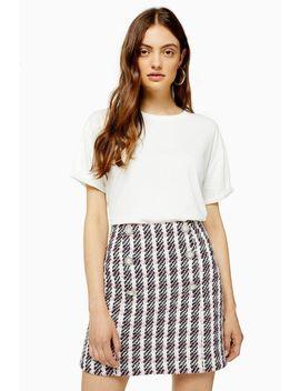 Tall White Raw Hem T Shirt by Topshop